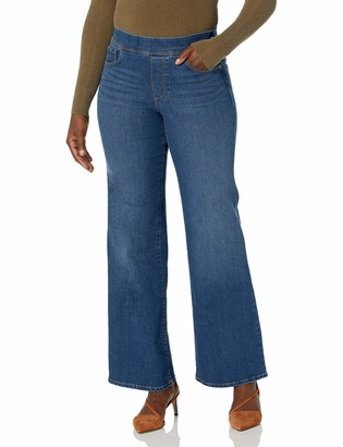 Gloria Vanderbilt Women's Misses Wide Leg High Rise Pull On Jean