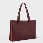 Paul Smith Women's Burgundy 'Concertina' Small Leather Tote Bag