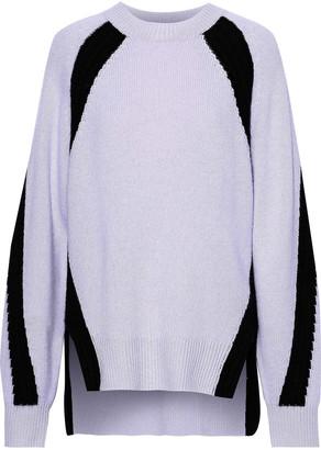 Amanda Wakeley Oversized Two-tone Cashmere Sweater