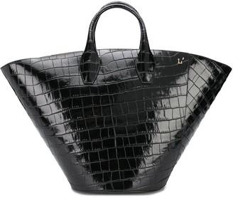 L'Autre Chose Secchiello embossed croc-effect tote bag