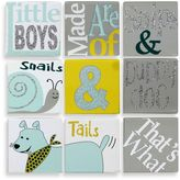 Bed Bath & Beyond 9-Piece Puppy Dog & Tails Canvas Wall Art