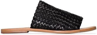 ST. AGNI Pia woven leather slides