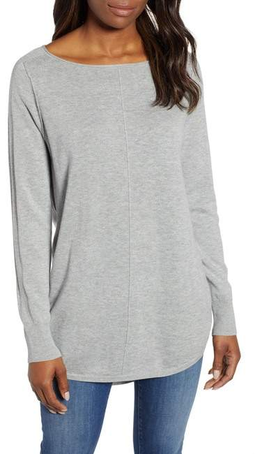 Caslon Seam Detail Shirttail Tunic (Regular & Petite)