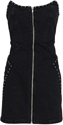 GRLFRND Brooke Studded Denim Mini Dress