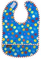 Kushies Waterproof Bib, Blue Circle, Infant by