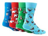 Red Herring Multi-coloured Festive Print Cotton Blend Socks