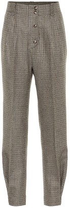 Etro Checked high-rise stretch-wool pants