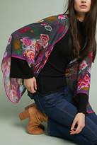 Anthropologie Fuschia Floral Kimono