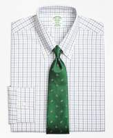 Brooks Brothers Non-Iron Milano Fit Hairline Framed Check Dress Shirt