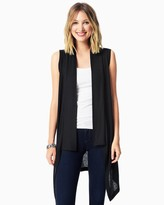Charming charlie Waterfall Ribbed Sleeveless Cardigan