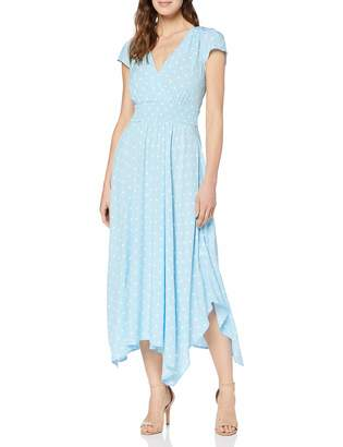 Joe Browns Women's Summery Polka Dot Handkerchief Hem Dress (Pale Blue/White A) 8 (Size:UK 8)