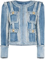 Balmain patchwork denim jacket