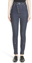 Alexander Wang Women's Snap High Waist Skinny Jeans