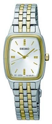 Seiko Womens Analogue Classic Quartz Watch with Stainless Steel Strap SRZ472P1
