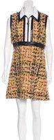 Louis Vuitton Leather-Trimmed Bouclé Dress