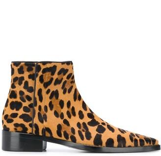 Dolce & Gabbana Leopard Print Ankle Boots