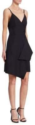 Victoria Beckham Victoria, Victoria, Women's Tie Front Drape Dress - Black - Size UK 4 (0)
