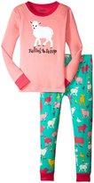 Hatley Falling To Sheep Pajama Set (Toddler/Kid) - Pink - 2