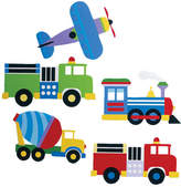 Olive Kids Wallies Kids Trains, Planes and Trucks Wall Decal