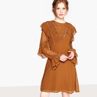 La Redoute Collections Dotted Ruffled Dress