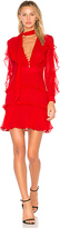 Nicholas Tie Neck Ruffle Dress in Red. - size 0 (also in 2)