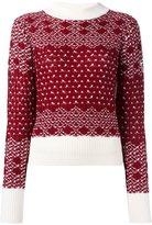Rossignol reversed jacquard cropped jumper