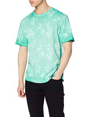 ONLY & SONS Men's Onslance Ss Reg AOP Washed Tee T-Shirt, Multicolour Bosphorus