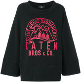 DSQUARED2 outdoors oversized sweatshirt - women - Cotton - XXS