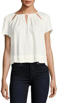 Ella Moss Stella Round-Neck Cutout Swing Top