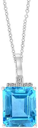 Effy Fine Jewelry 14K 8.48 Ct. Tw. Diamond & Blue Topaz Pendant Necklace
