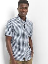 Gap Poplin gingham slim fit shirt