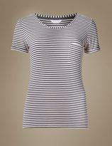 Marks and Spencer Striped Short Sleeve Pyjama Top