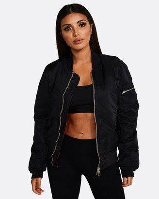 Nicky Kay - Women's Black Winter Coats - Reversible Bomber Jacket - Size One Size, XS/S at The Iconic