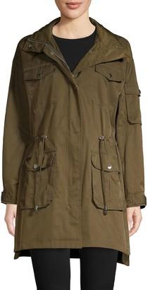 Karl Lagerfeld Paris Hooded Cotton Blend Coat