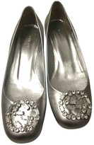 Gucci Silver Leather Heels