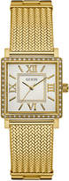 GUESS Women's Highline Gold-Tone Stainless Steel Mesh Bracelet Watch 28mm U0826L2