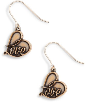 Alex and Ani Love Drop Earrings