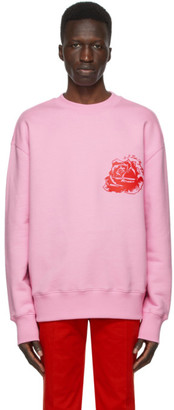 SSENSE WORKS SSENSE Exclusive Jeremy O. Harris Pink Rose Sweatshirt