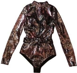 Agent Provocateur Metallic Silk Jumpsuit for Women