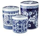 Williams-Sonoma Williams Sonoma Blue & White Ceramic Canisters, Set of 3