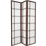 Oriental Furniture Simple Best Price Quality Deal Room Divider, 6-Feet Double Cross Folding Shoji Privacy Floor Screen