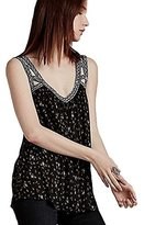 Lucky Brand Women's Geo Embroidered Tank Top