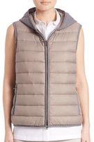 Peserico Hooded Puffer Vest