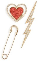 BP Women's Set Of 3 Crystal Pins