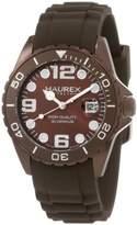 Haurex Italy Women's 1K374DM1 Ink Lady Aluminum Brown Rubber Watch