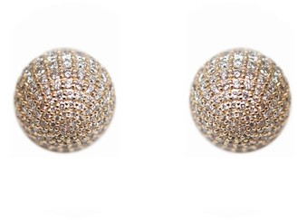 Ri Noor Diamond Ball Earrings