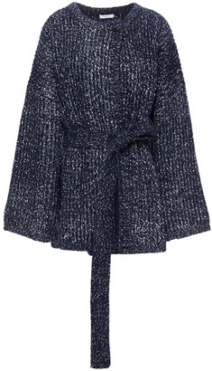See by Chloe Belted Ribbed-knit Cardigan