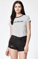 La Hearts Club Malibu Stripe Short Sleeve T-Shirt