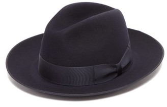 Lock & Co Hatters St. James Felt Fedora - Mens - Navy