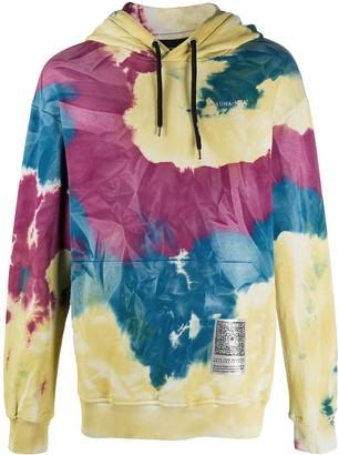 Mauna Kea Tie-Dye Print Long Sleeve Hoodie